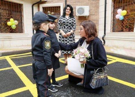 Mehriban Əliyeva Bakıda uşaq bağçasının açılışında - FOTO